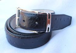 Classy Ostrich Skin Pattern Leather Belt