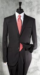 A Must Have Black Color Slim Cut Suit By Galante
