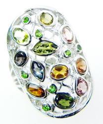 Stunning Tourmaline Sterling Silver Ring