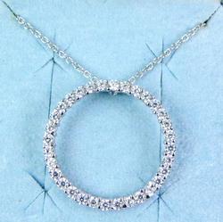 Epiphany Sterling Diamonique Eternity Necklace