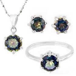 4.3ctw Mystic Gemstone Jewelry Set