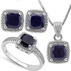 Sterling Sapphire Jewelry Set