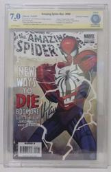 Amazing Spiderman # 568 Second Print Signed  Mark Waid