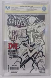 Amazing Spiderman # 568 B & W Variant Signed Mark Waid