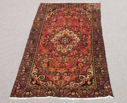 Gorgeous Warm Toned Semi Antique Persian Borjaloo Rug