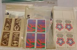 Mint eight cent stamps, plate blocks, $24.00 face value