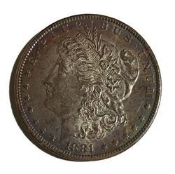 Choice BU Toned 1881 O Morgan Dollar