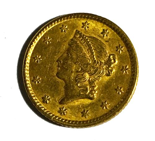 1851 $1 US Gold Near Uncirculated