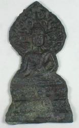 Antique Buddhist Amulet Buddha Meditating Under Bodhi T