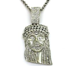 Unisex Diamond Jesus Medallion