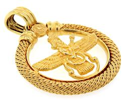 Favahar Pendant  in 18kt Gold