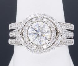 Double Halo Style Diamond Engagement Ring