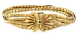 Vintage Multi Strand 18K Gold Bracelet