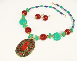 Gorgeous Ethnic Art Handcrafted Beaded Necklace Set