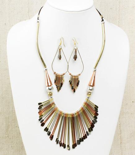 A Fancy Metal Artisan Handmade Jewelry Set