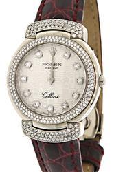 Ladies Rolex Cellini with Diamonds in 18K