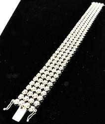 Amazing 12ctw Diamond Multi Row Bracelet, 14K