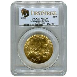 2009 $50 Gold Buffalo MS70 First Strike PCGS