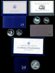 3 Different Silver Commemorative Sets: 1986, 87, & 91