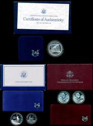 3 Diff Proof Commemorative Sets 1986, 1987, & 1999. Box/COA