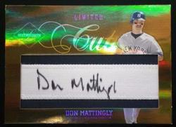 2005 Leaf Lim D. Mattingly 6/10 Cut On Jersey Autograph