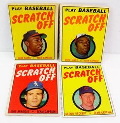 4 Topps 1970 Baseball Scratch-Offs