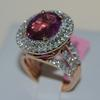 Impressive Pink Sapphire & Diamond Ring, 8+ctw