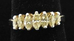 LADIES 14 KT DIAMOND BAND