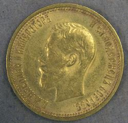 1899 10 Rouble Russia Gold Coin, Excellent
