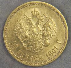 Better Date 1901 10 Rouble Gold Coin