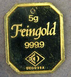 Degussa 5gr Fine Gold Bar