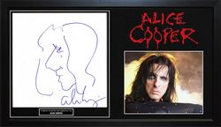 Alice Cooper Signed Hand Drawn Art Sketch Stretched Can