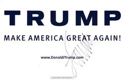 President Donald Trump Autographed Political Sign AFTAL