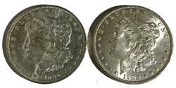 1902 O and 1904 O Frosty White BU Morgans
