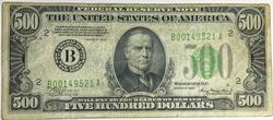Nice 1934 $500 New York  FRN