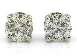 1.8+CTTW DIAMOND STUD EARRINGS