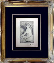 Auguste Renoir Rare 1919 Etching