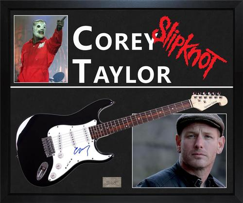 Corey Taylor Signed Guitar With Custom Display Case Exact Video Proof