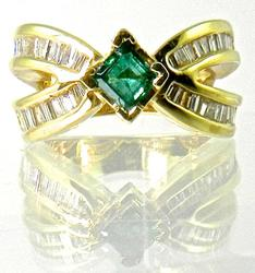 Unique Emerald & Diamond Ring