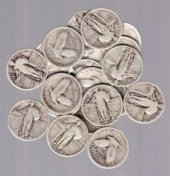 20 Standing Liberty Quarters Varied Circ Condition