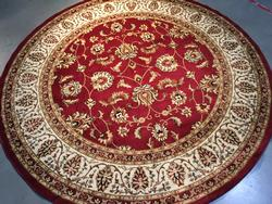 8' Round Classic Detailed & Decorative Area Rug