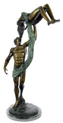 Poised Dancer Ballerina Bronze Sculpture