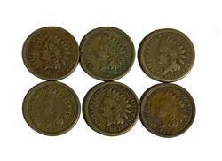 Civil War Copper Nickel Indian Cent set