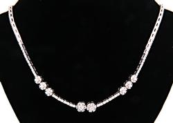 High Quality 4ctw Diamond Cluster Necklace
