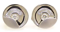 Bezel Set Diamond Earrings in Platinum
