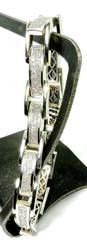 Exquisite Man's White Gold Diamond Bracelet