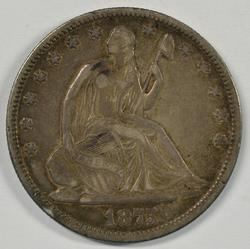 Fully-defined 1875 Seated Liberty Half Dollar