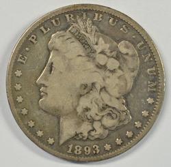 A Rare 1893-CC Morgan Silver Dollar in circ