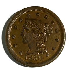 1850 Red BU Large Cent.