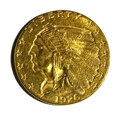 1926 US Indian Quarter Eagle Gold
